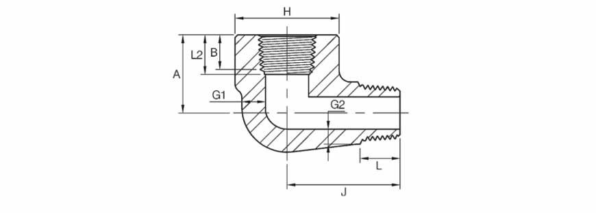 ASME B16.11 90D Street Elbow Dimensions