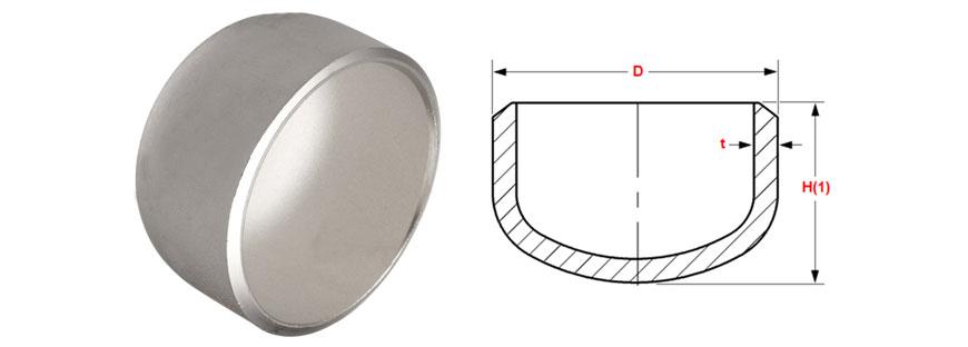 ANSI/ASME B16.9 Buttweld Cap Dimensions