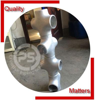 ANSI/ASME B16.9 Reducing Cross Material Inspection