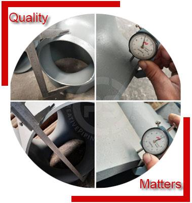 ANSI/ASME B16.9 Reducing Tee Material Inspection
