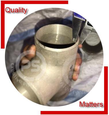 ANSI/ASME B16.9 Equal Tee Material Inspection