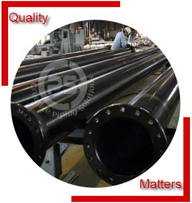 Double Flanged Pipe Material Inspection