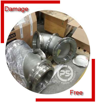 Steel Flanged Elbow Packing & Forwading