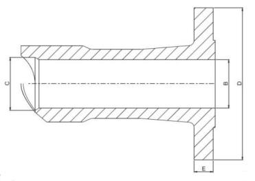 Nipo Flange Dimensions