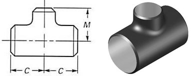 Alloy Steel Reducing Lateral Tee Dimenssion