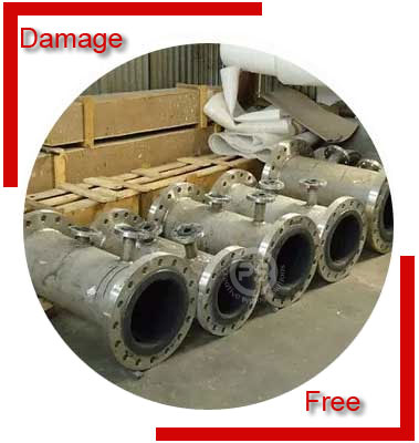 Rubber Lined Spool Pipe Packing & Forwading