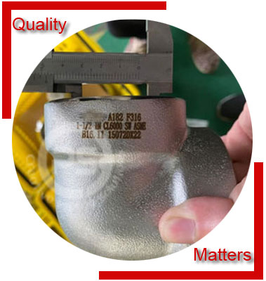 Socket Weld 90 Degree Elbow Material Inspection