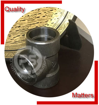 ANSI/ASME B16.11 Socket Weld Equal Tee Material Inspection