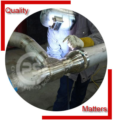 Stainless Steel Fabricated Pipe Headers Material Inspection