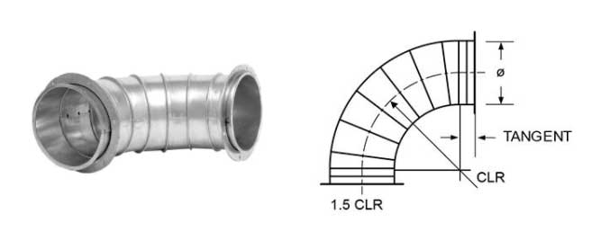 Steel Flanged Elbow Dimensions