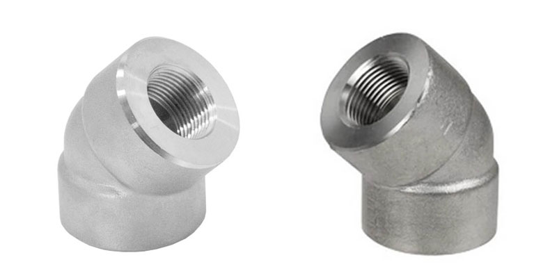 ANSI/ASME B16.11 Threaded 45 Degree Elbow Suppliers